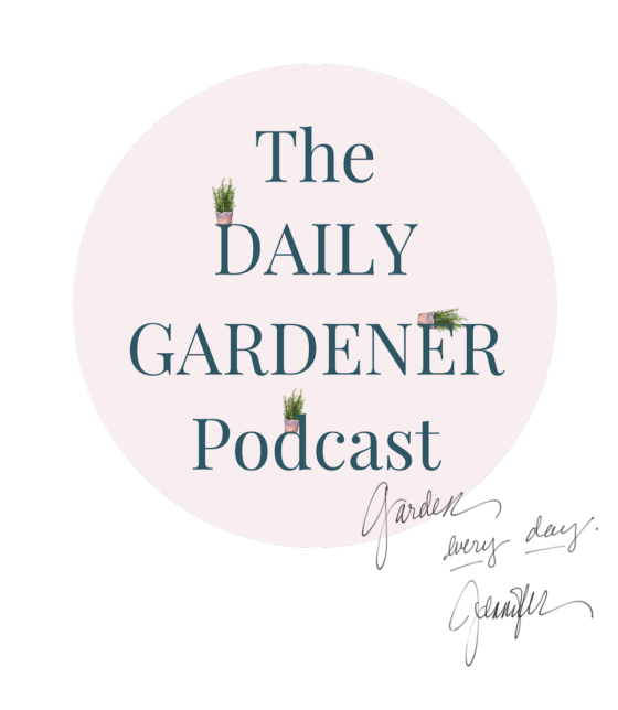 The Daily Gardener Circle Logo with Signature