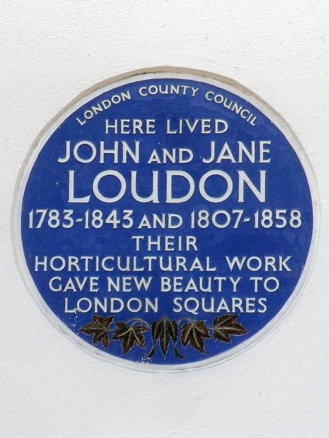 John & Jane Loudon Blue Plate