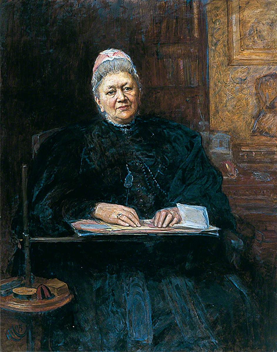 Herkomer, Herman; Mrs Phoebe Lankester; Colchester and Ipswich Museums Service; http://www.artuk.org/artworks/mrs-phoebe-lankester-12071