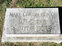 Mary Gibson Henry Grave