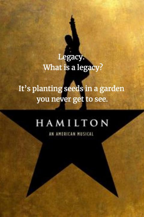 Hamilton I spend hours in the garden